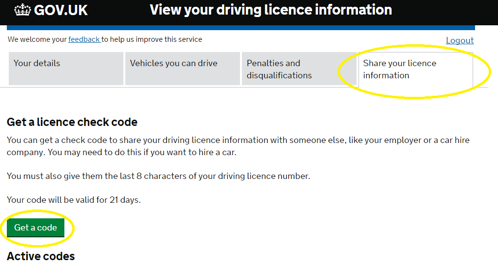 Share your driving license information – Driving Lessons in