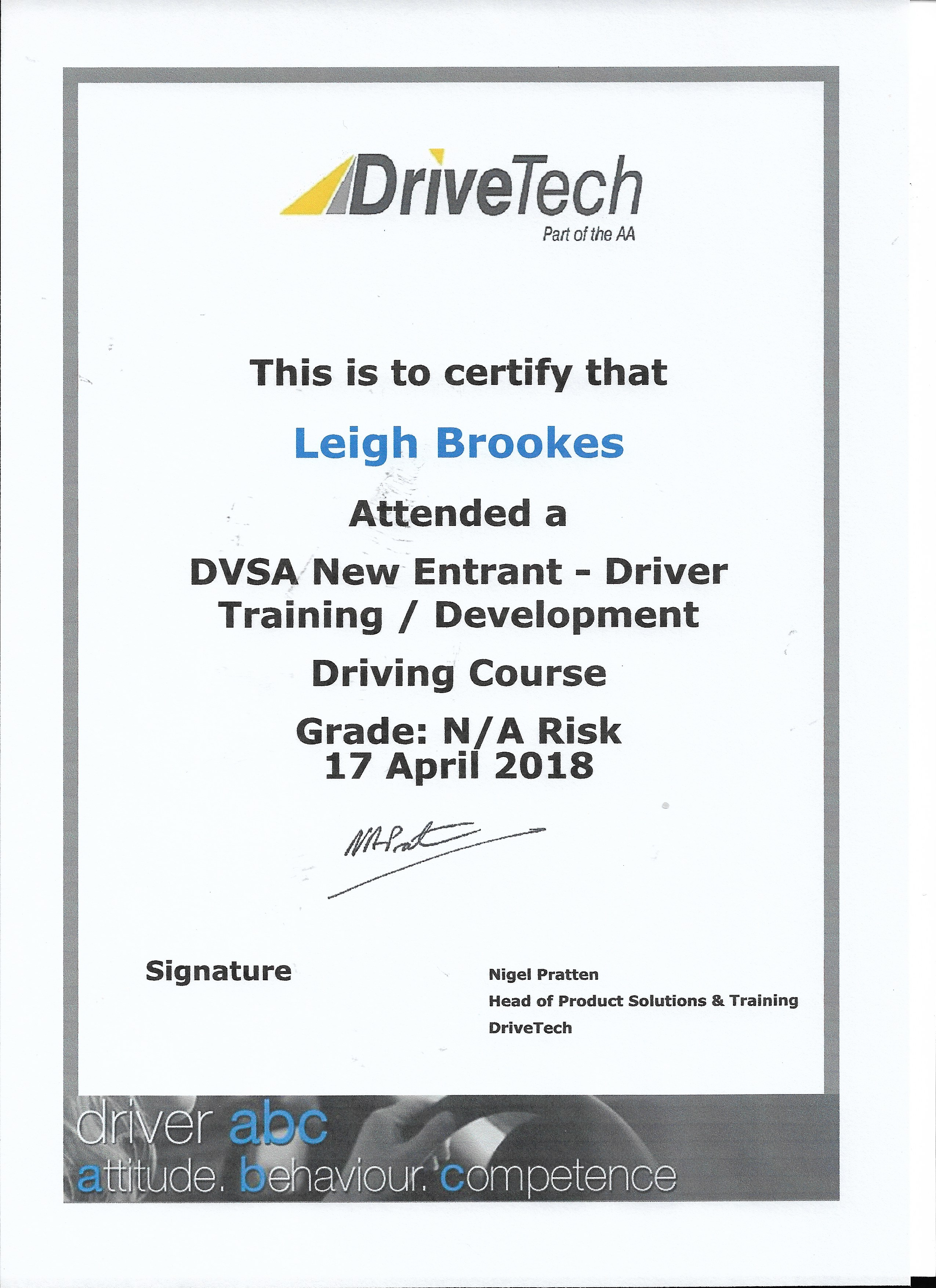 DVSA New Entrant Examiner Training – Driving Lessons in